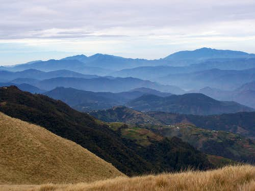 Outlook to NW from Mt. Pulag
