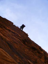 Abseil from Hammad s ridge