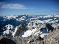 View from Marmolada summit towards south