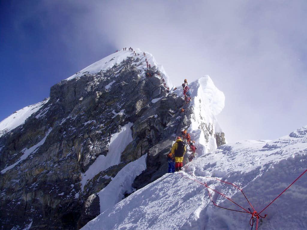 Summit ridge from south summit