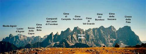 Panorama of the Pale di San...