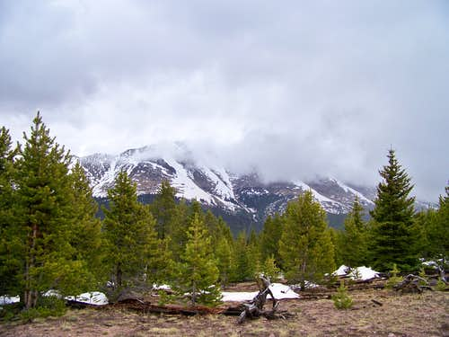 Clouds obscure Bald Mountain