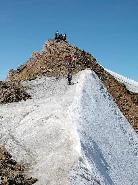 The last steps to the summit...