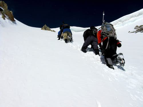 Topping out on Hopeful Couloir