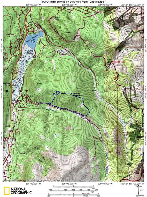 Mount Argentine Loop Trail Map