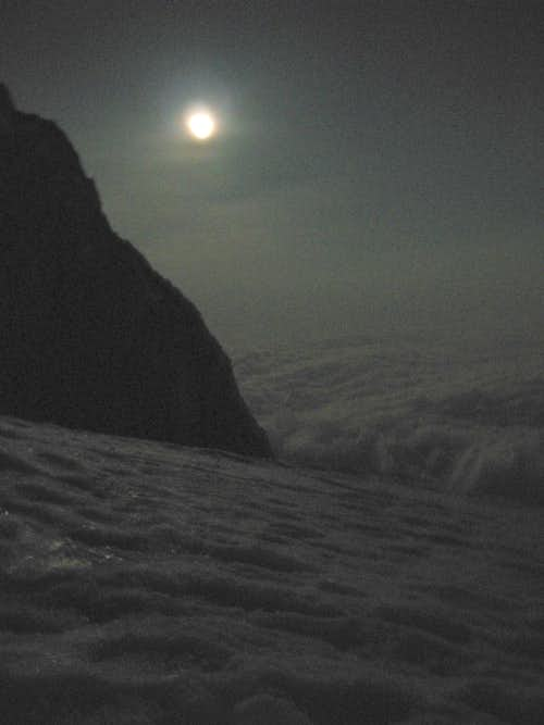 High Camp View Of Full Moon