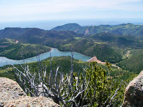 Rosemont Reservoir from Mount Big Chief