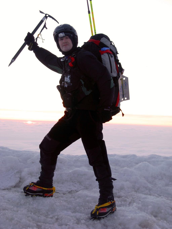 Mount Hood Summit Pose