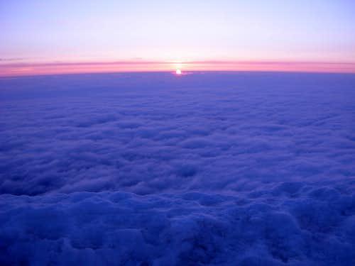 Mount Hood Summit At Sunrise