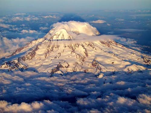 Mt. Rainier from above