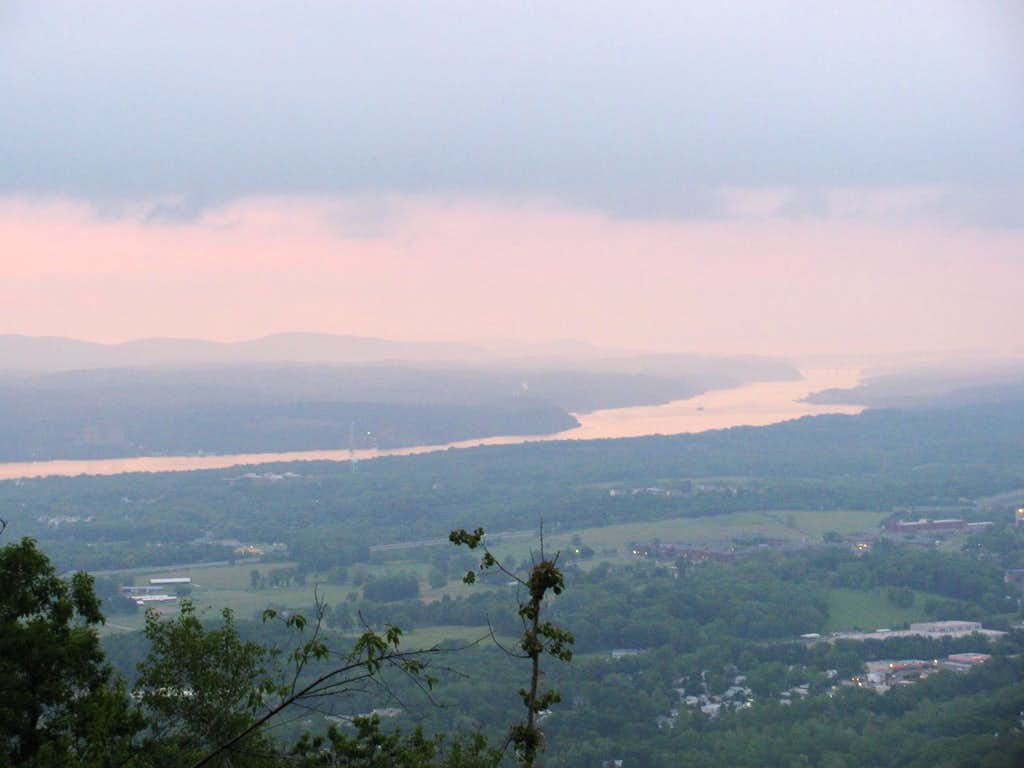 View North up the Hudson River