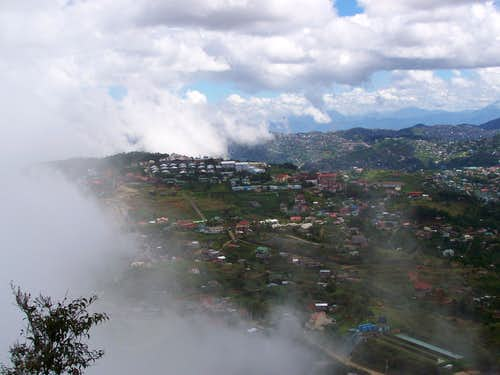 Baguio City in morning clouds