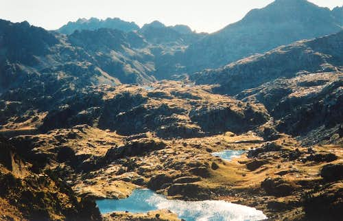 Lakes of Colomers from the Port de Caldès