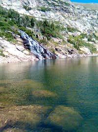Waterfall flowing into Loch Lomond (Colorado)