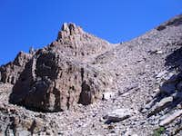 Upper half of scree slope