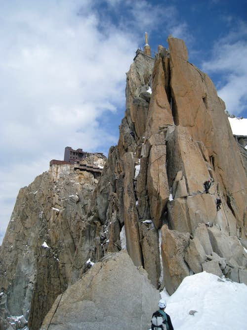 The crux of the Cosmiques ridge