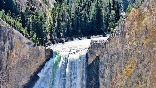 Lower Falls of Yellowstone Up Close