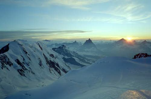 Lyskamm, Matterhorn seen from...