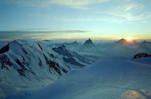 Lyskamm, Matterhorn seen from...