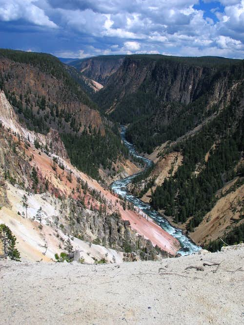 Grand Canyon of the Yellowstone - Distance View