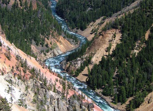 Grand Canyon of the Yellowstone - Canyon View