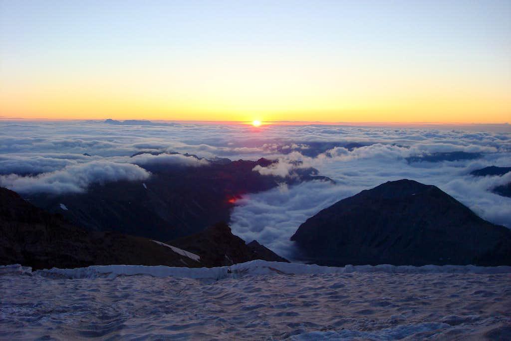 Sunrise, Emmons Glacier, Mt. Rainier, Washington