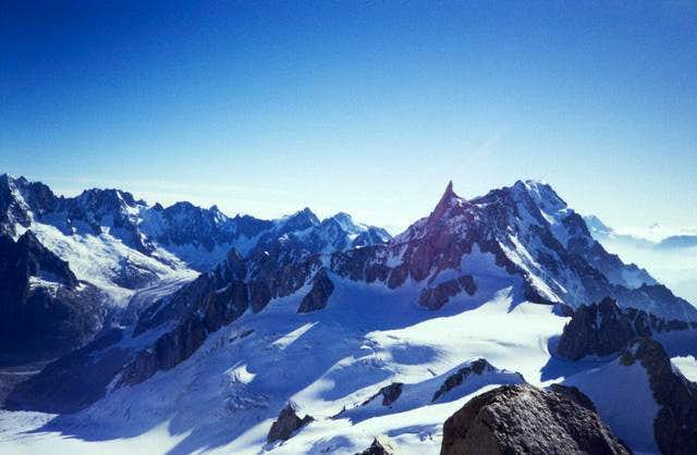 Dent du Geant seen from the...