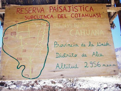 Informational Sign, Cahuana