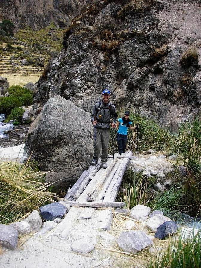 Crossing the Small Log Bridge