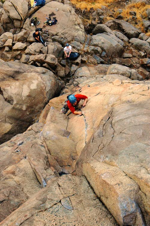 Mission Gorge climbing
