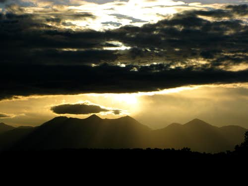 Sunrise over the La Sal Mountains