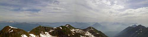 Monte Verzegnis - Summit panorama