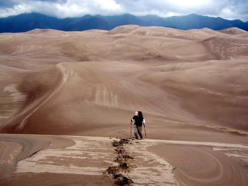 Trekking in the Sand Dunes