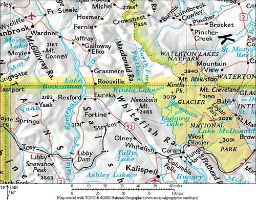 MAP — Whitefish and Macdonald Ranges