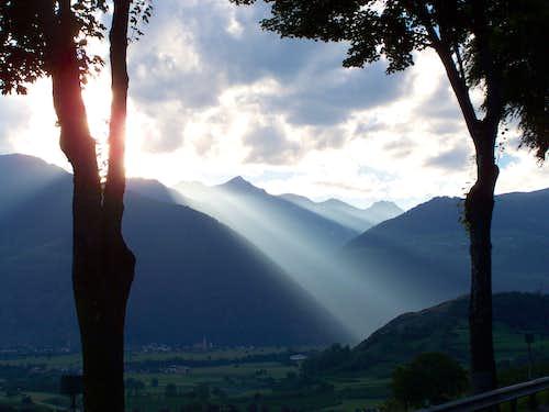 View of Vatles from Glorenza