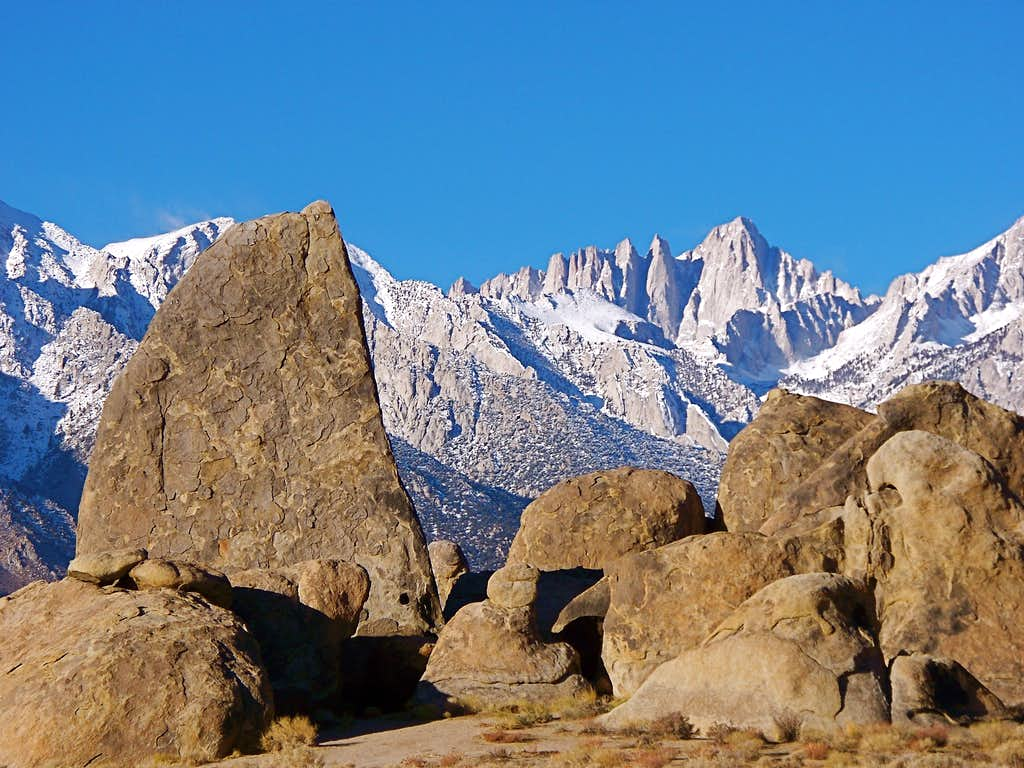 Shark's Fin and Mount Whitney