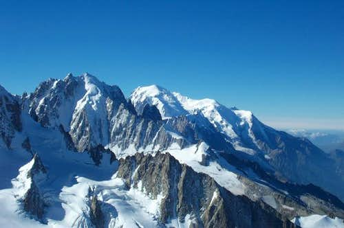 Aiguilles Verte seen from the...