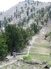 the saddle with peak in back ground