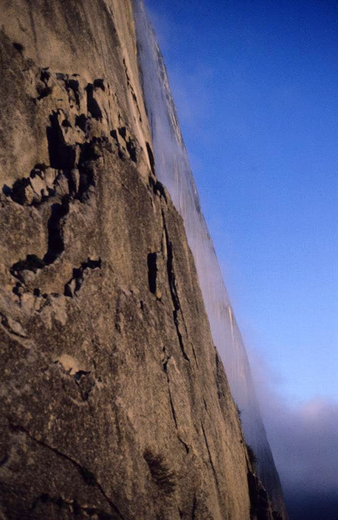 Mist on the Northwest Face of Half Dome