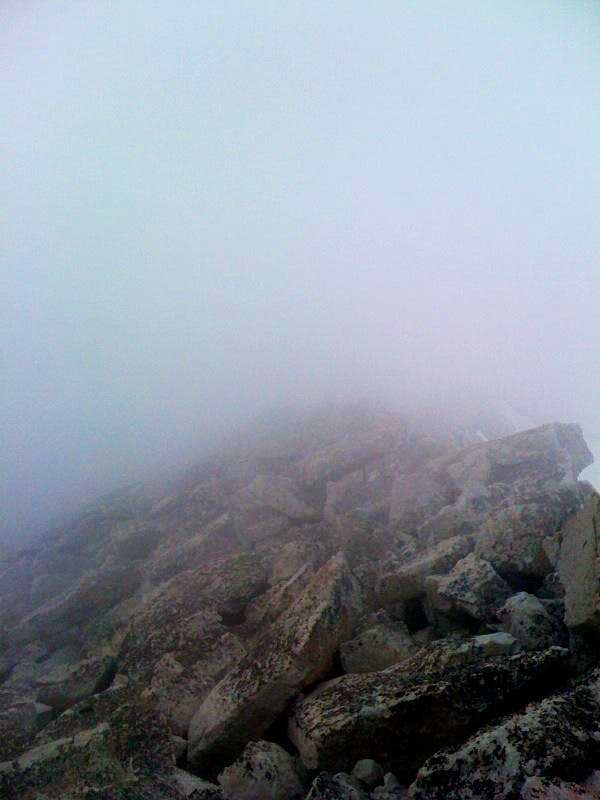 Summit clouded up