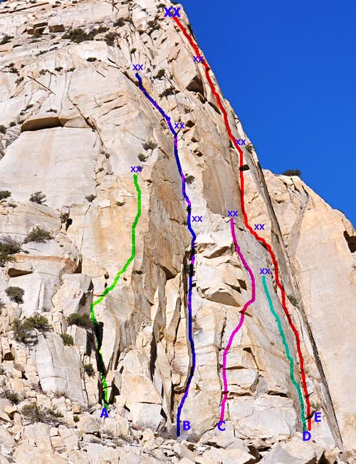 Routes of Rites Buttress