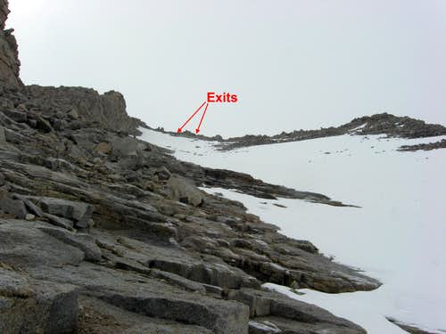 Exit to NW Ridge Variation