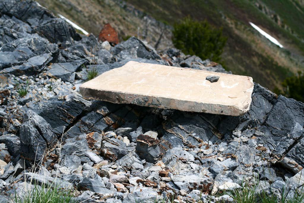 Mendon Peak Summit Marker