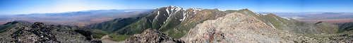 Thunder Mountain Summit Panorama