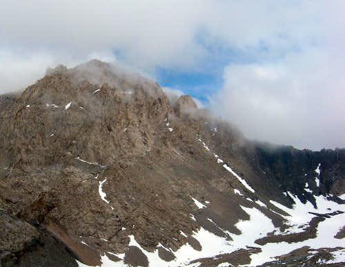 Clouds on Mt Williamson