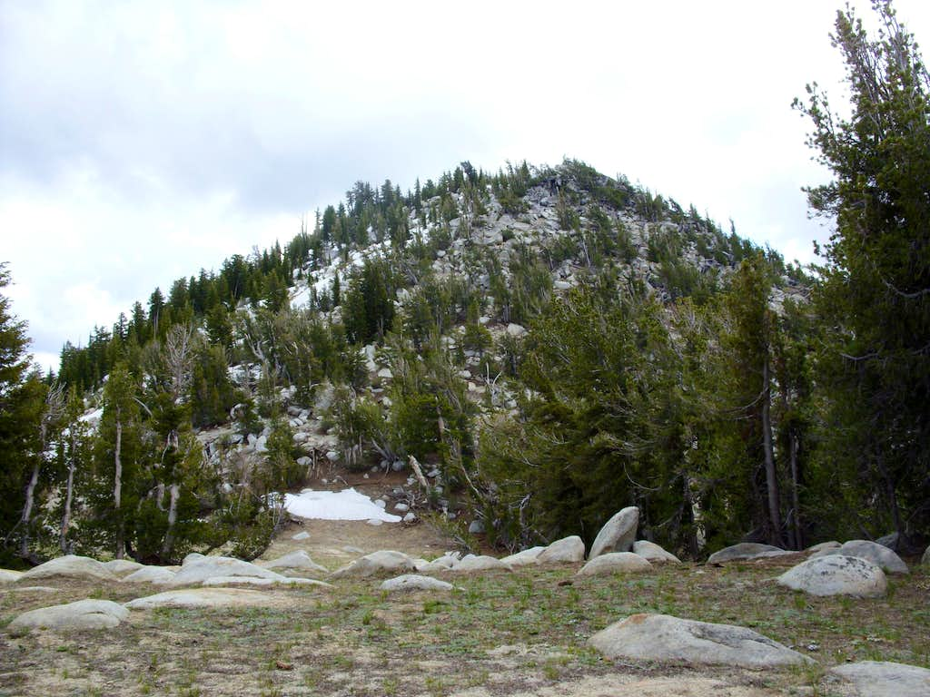 Base of the final summit block