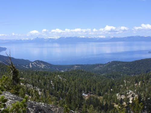 Lake Tahoe from the top of Peak 9225