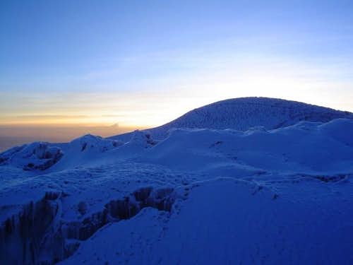 Whymper summit seen from the...
