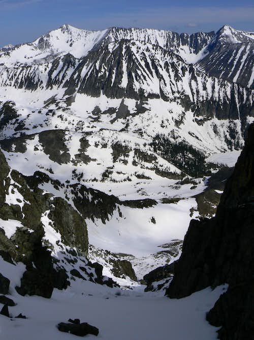 North Couloir on the west ridge of Crazy
