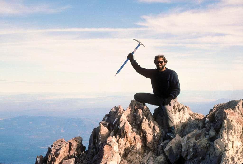 Mark, atop Shasta